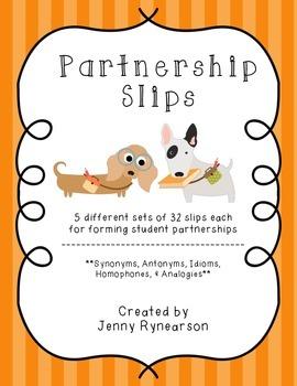 Partnership Slips! *Mix Up Student Partners While Practici