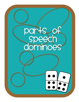 Parts Of Speech Dominoes