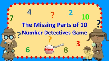 Parts of 10 Number Detectives Game