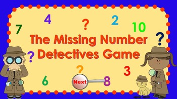 Parts of 8 Number Detectives Game