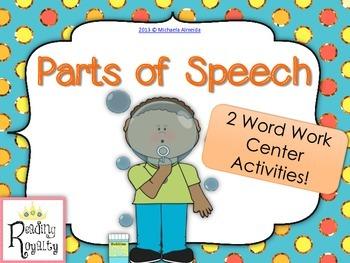 Parts of Speech - 2 center activities!