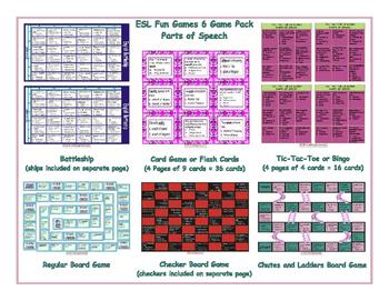 Parts of Speech 6 Board Game Bundle