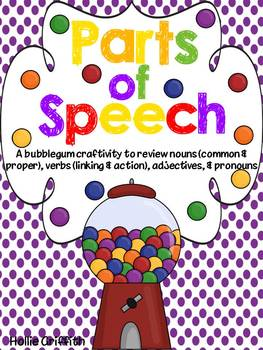 Parts of Speech {A Craftivity to Review Nouns, Verbs, Adje