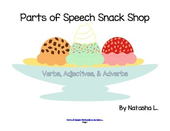 Parts of Speech Activities Sampler