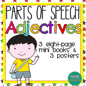 Parts of Speech: Adjective Mini Books & Poster Set