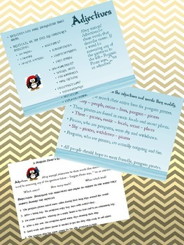 Parts of Speech: Adjectives - Penguin Pirate Lessons