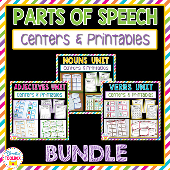 Parts of Speech Bundle (Nouns, Adjectives, Verbs)