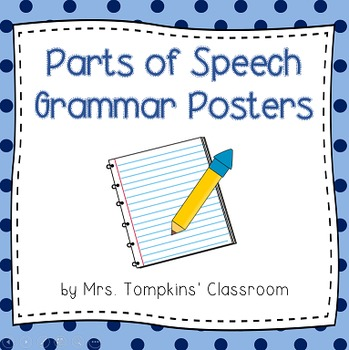 Parts of Speech Classroom Posters