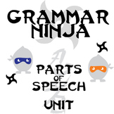Parts of Speech Complete Unit - Lessons, Assessments, Keys