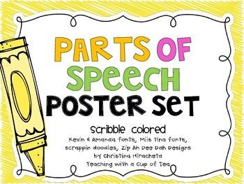 Parts of Speech: Crayon Scribble edition
