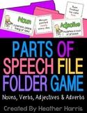 Parts of Speech File Folder Game