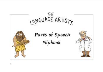 Parts of Speech Flipbook. (Nouns, Verbs, Adjectives, Adverbs).