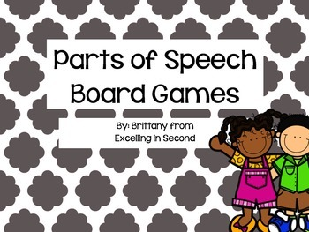 Parts of Speech Game Boards