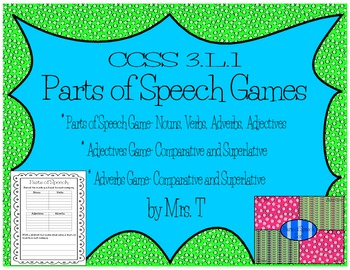 Parts of Speech Games ~ Comparative and Superlatives Adjec