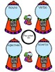 Parts of Speech Gumball Sort Center and Worksheets