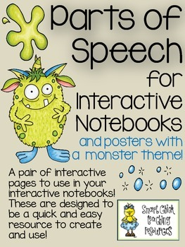 Parts of Speech ~ Interactive Notebook Pages and Posters w