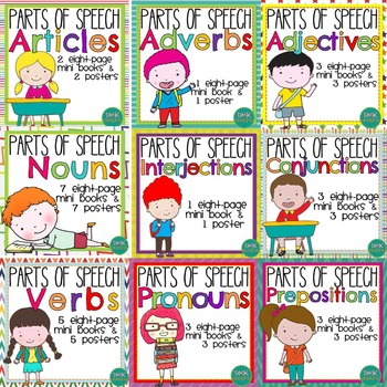 Parts of Speech: Mini Books & Poster Set Bundle
