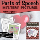 Parts of Speech Mystery Pictures - February Set 1