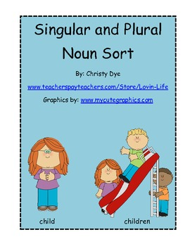 Noun Sort- Singular and Plural