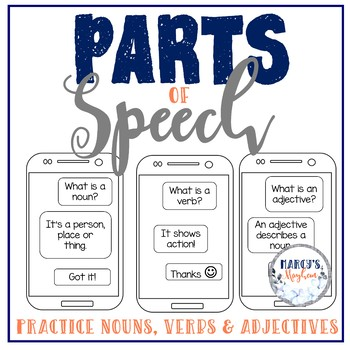 Parts of Speech -Nouns, Verbs & Adjectives [1st grade, 2nd