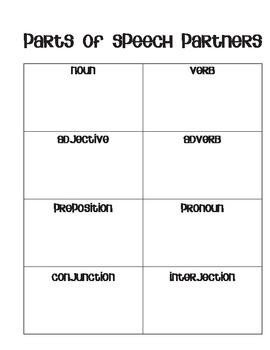 Parts of Speech Partners