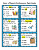 Parts of Speech Performance Task Cards