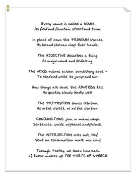 Parts of Speech Poem