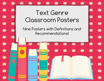 Text Genre Classroom Posters