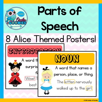 Parts of Speech Posters (Alice Theme)