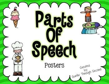 Parts of Speech Posters Freebie