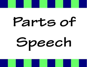 Parts of Speech Posters- Navy, lime and grey