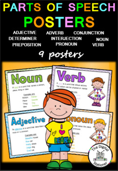 Word Classes Posters (Parts of Speech)