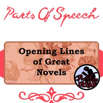 Parts of Speech Practice: Opening Lines of Great Novels