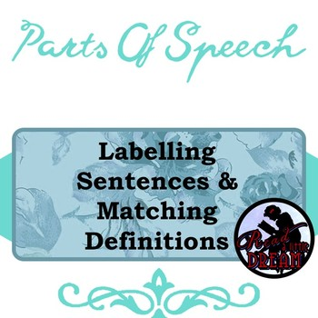 Parts of Speech Quiz: Labeling Sentences and Matching Definitions