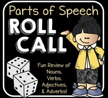 Parts of Speech Roll Call