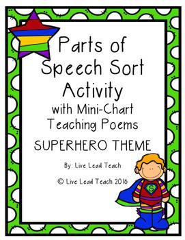 Parts of Speech Sort- Superhero Theme
