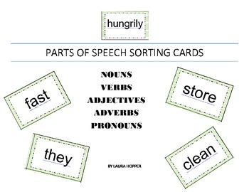Parts of Speech Sorting Cards