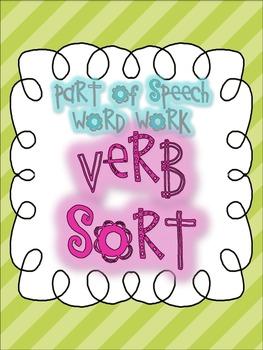 Parts of Speech Sorting {VERBS: 6 sorting activities, tons