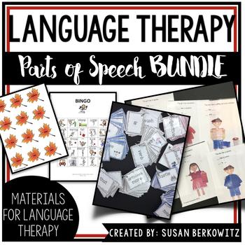 Parts of Speech Super Bundle of Activities Speech Therapy