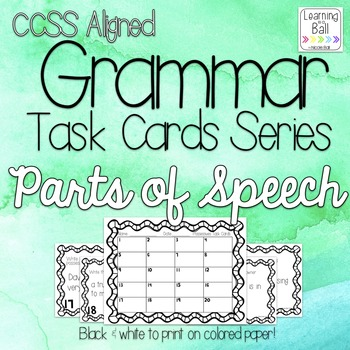 Parts of Speech Task Cards - for Roam the Room or Centers!
