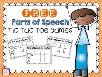 Parts of Speech Tic Tac Toe FREEBIE
