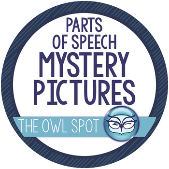 Parts of Speech Winter Mystery Pictures - Print and Go!