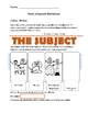 Subjects and Predicates: Parts of Speech Worksheet