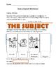 Subjects and Predicates Worksheet [Freebie!]
