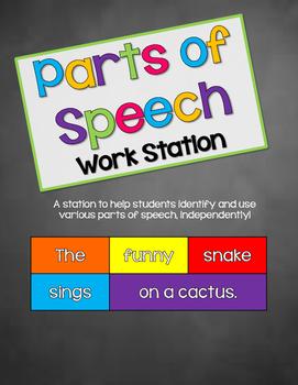 Parts of Speech Workstation FREEBIE!