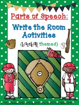 Parts of Speech: Write-the-Room Activities! {baseball them