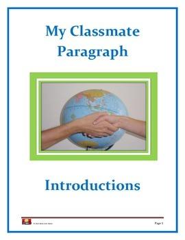 Parts of Speech: My Classmate Paragraph (Opener or Grammar