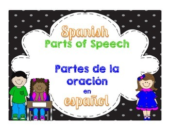 Parts of Speech in Spanish 3rd Grade Language Standards~Pa