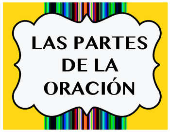 Parts of Speech in Spanish Posters