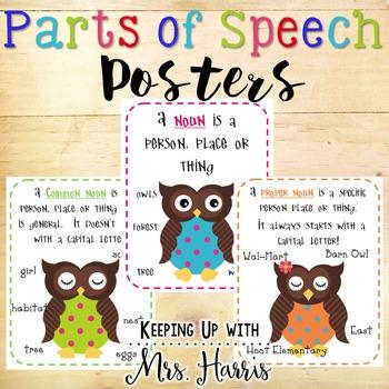 Parts of Speech - owl theme